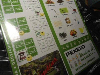 Pexeso Natotata: Zahrada německy / němčina