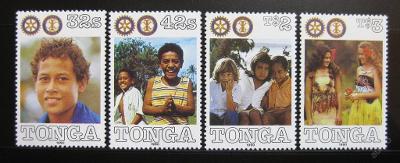 Tonga 1990 Rotary Intl. SC# 764-67 $14 0568