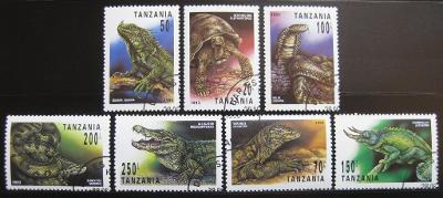 Tanzánie 1993 Plazi SC# 1128-34 $6.75 0129