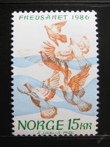 Norsko 1986 Mez. rok míru SC# 902 Kat 250Kc 0152