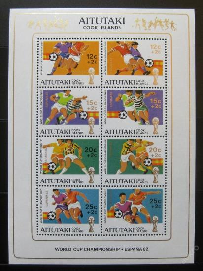 Aitutaki 1981 MS ve fotbale Mi# Bl 33 0108 - Filatelie