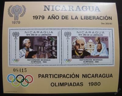 Nikaragua 1979 Mez.rok dětí Mi# Block 113 40€ 0136