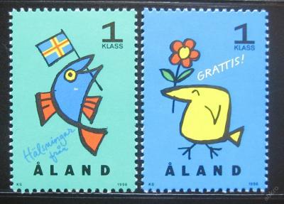 Alandy 1996 Pozdravy Mi# 107-08 0379