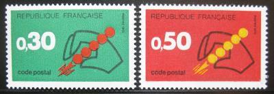 Francie 1972 Uvedení PSČ Mi# 1795-96 0389