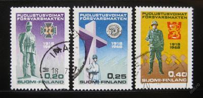 Finsko 1968 Národní obrana Mi# 644-46 0457