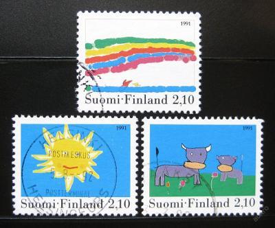 Finsko 1991 Dětské kresby Mi# 1149-51 0460