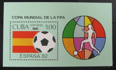 Kuba 1981 MS ve fotbale Mi# Block 66 0468
