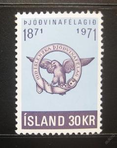 Island 1971 Společnost patriotů Mi# 455 0780