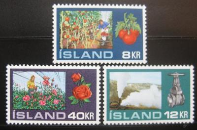 Island 1972 Zahradnictví Mi# 465-67 0781