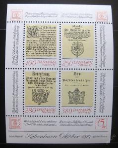 Dánsko 1985 HAFNIA výstava Mi# Block 4 0778