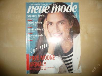 Časopis - NEUE MODE - číslo 2. z února roku 1991