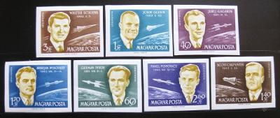 Maďarsko 1962 Kosmonauti Mi# 1873-79B 100€ 0629