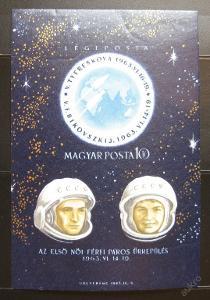 Maďarsko 1963 Let do vesmíru Mi# Bl 38B 35€ 0623