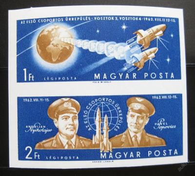 Maďarsko 1962 Vostok 3 a 4 Mi# 1863-64B 40€ 0622