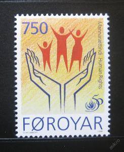 Faerské o. 1998 Lidská práva Mi# 340 0227