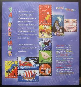 Faerské o. 2003 Dětské písně Mi# 450-59 14€ 0228