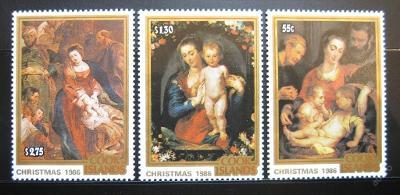 Cookovy o. 1986 Umění, Rubens Mi# 1125-27 11€ 0092