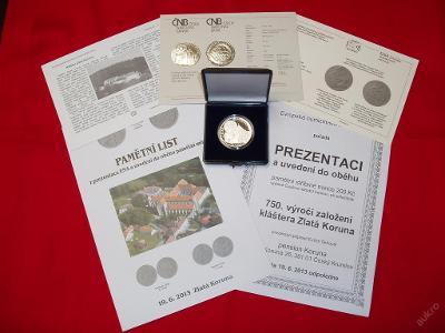 mince s příběhem: 200 Kč 2013 Zlatá Koruna proof