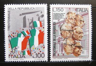 Itálie 1976 Výročí republiky Mi# 1532-33 0904