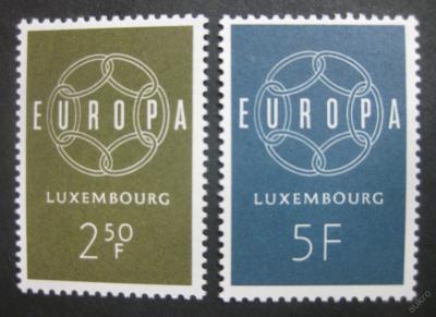Lucembursko 1959 Evropa CEPT Mi# 609-10 4€ 0003