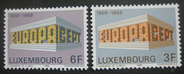 Lucembursko 1969 Evropa CEPT Mi# 788-89 0003 - Filatelie
