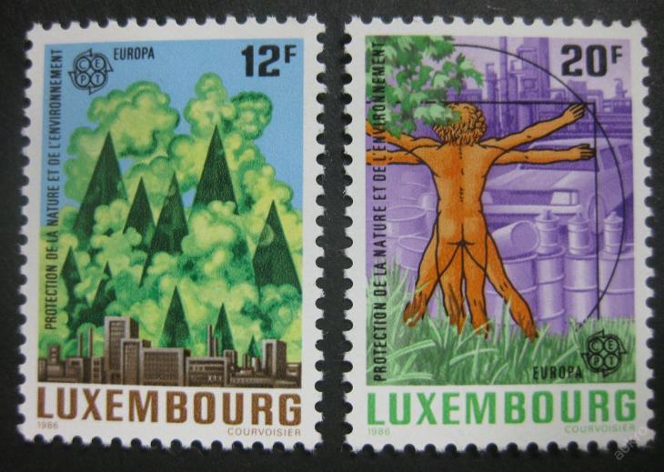 Lucembursko 1986 Evropa CEPT Mi# 1151-52 4€ 0298 - Filatelie
