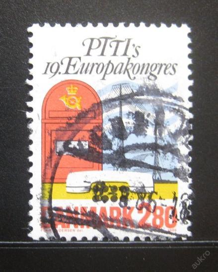 Dánsko 1986 Kongres PTT, Kodaň Mi# 877 0787 - Filatelie