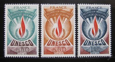 Francie 1975 UNESCO Mi# 13-15 0354