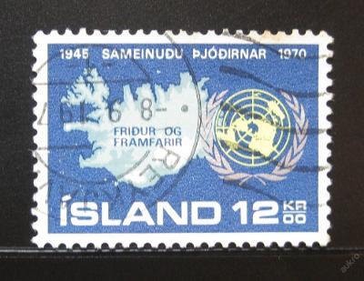 Island 1970 Výročí OSN Mi# 449 0354
