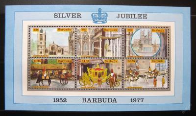 Barbuda 1977 Vláda Alžběty Mi# Block 22 0879