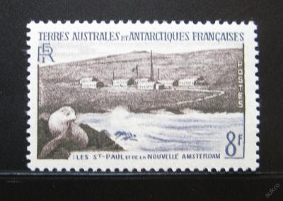 Fr. Antarktida 1956 Lachtan Mi# 5 25€ 0931