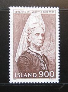 Island 1982 Borbjorg Sveinsdottir Mi# 587 0984