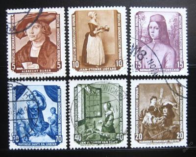 DDR 1955 Slavné obrazy Mi# 504-09 30€ 0963