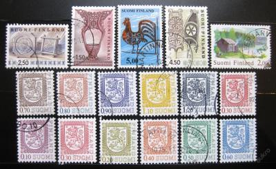 Finsko 1975-90 Různé motivy SC# 555-70 $6.70 0940