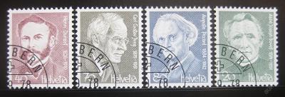 Švýcarsko 1978 Osobnosti Mi# 1137-40 0742