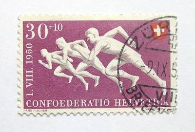 Švýcarsko 1950 Atleti Mi# 548 26€ 0627