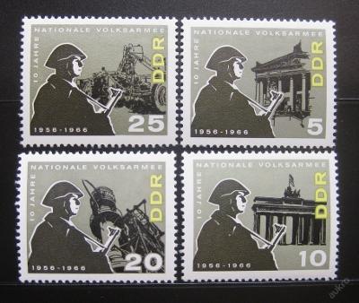DDR 1966 Národní armáda Mi# 1161-64 0010