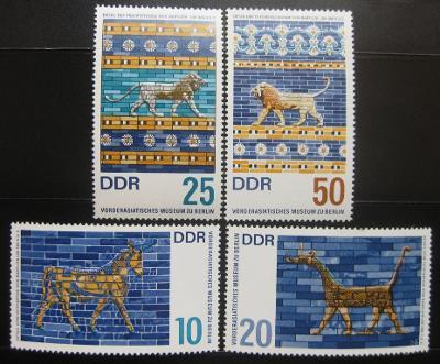 DDR 1966 Muzeum Blízkého Východu Mi# 1229-32 0010