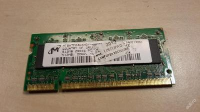 512 MB DDR2 RAM SO-DIMM Micron