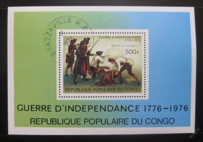 Kongo 1976 Americká revoluce Mi# Block 10 0727