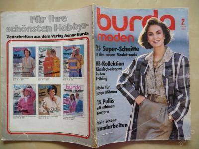 Německý časopis - BURDA MODEN číslo 2 z roku 1986