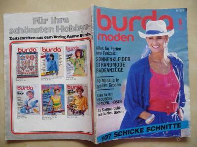 Německý časopis - BURDA MODEN číslo 6 z roku 1986