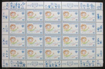 OSN New York 1979 Mez. rok dětí Mi# 334 Bl 0150