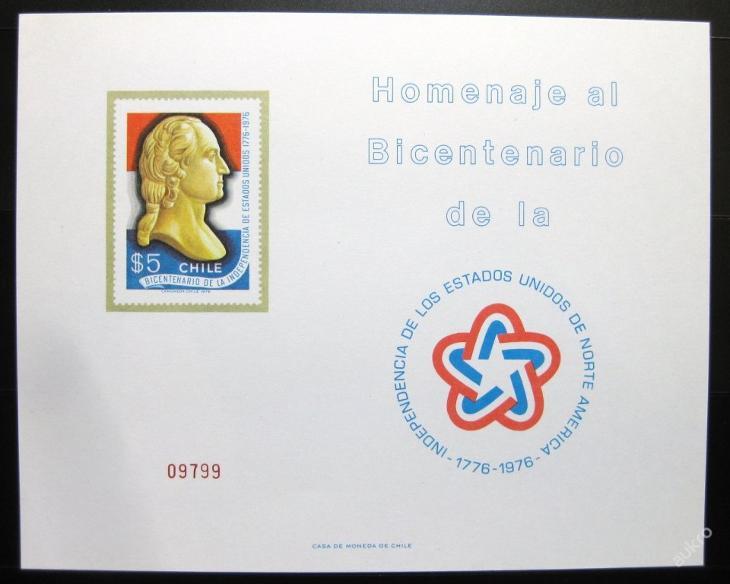 Chile 1976 Washington pamětní arch Mi# 30€ 0056 - Filatelie
