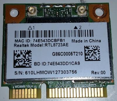 Wifi RTL8723AE z Toshiba Satellite C850 - 13Z