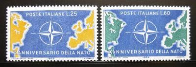 Itálie 1959 Výročí NATO Mi# 1032-33 0293