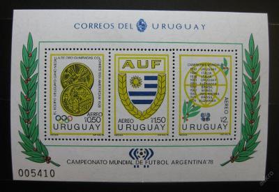 Uruguay 1978 MS ve fotbale Mi# Block 39 50€ 0300