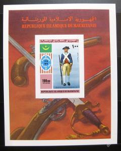 Mauretánie 1976 Am.revoluce neperf Mi# Bl 14B 0327
