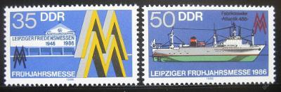 DDR 1986 Lipský veletrh Mi# 3003-04 0391