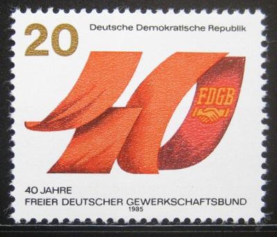 DDR 1985 Odborová organizace Mi# 2951 0393